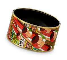 Hermes Point d'Orgue Enamel Bracelet