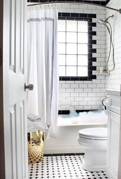 This looks like my bathroom, but with the tile going all the way up the walls, which I like.