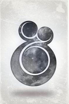 rotund & spacey ampersand