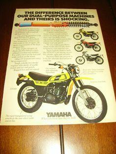 1978 Yamaha DT125 DT175 DT250 DT400 Original Ad Dual Purpose   eBay