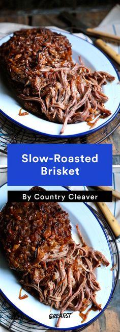 1. Slow-Roasted Brisket #healthy #rosh #hashanah #recipes http://greatist.com/eat/rosh-hashanah-recipes-for-a-healthy-sweet-new-year
