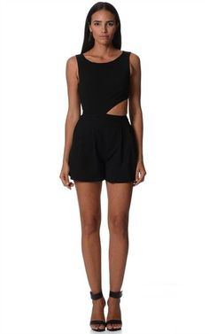 Black Cut-out Playsuit  $25  size 8  (rrp $70)