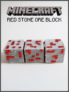 Minecraft Inspired Redstone Ore Block.