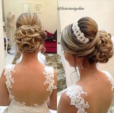 ideas for my hair Bridal Hairdo, Hairdo Wedding, Wedding Hair And Makeup, Bride Hairstyles, Headband Hairstyles, Pretty Hairstyles, Bridesmaid Hair, Prom Hair, Updo With Headband