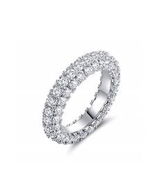 This Cubic Zirconia & Silvertone Brilliant-Cut Eternity Band by Sevil Designs is perfect! #zulilyfinds