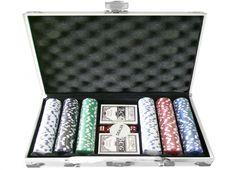 VALIGETTA 300 FICHES ALLUMINIO. Valigetta 24 ore in alluminio con all'interno 2 mazzi di carte da poker e 300 fiches