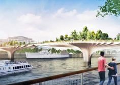 Heatherwick Studio Unveils Plans For Lush New River Thames Garden Bridge In…