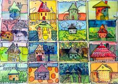 The Little Houses Painting