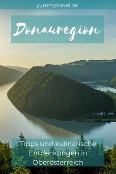 Tipps für deinen entspannten Besuch an der Donau in Oberösterreich. Kulinarik und Wandern stehen auf dem Programm. #donauradweg #donausteig #donau #österreich Reisen In Europa, Travel Images, Travelogue, Wonderful Places, Traveling By Yourself, Around The Worlds, Mountains, Wanderlust, Tips