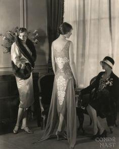 Splendidly beautiful fashions from Bergdorf Goodman, 1928.