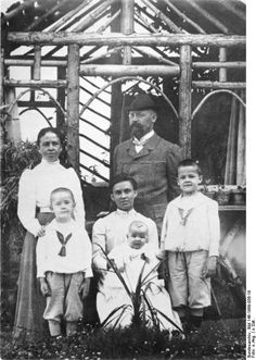 Himmler family portrait, date unknown; Heinrich Himmler was the leftmost, in front row, standing before his mother,