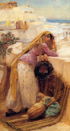 Frederick Arthur Bridgeman, On the Terrace