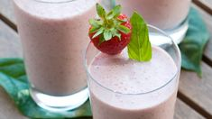 Strawberry Banana Smoothie | Epicure.com Quick Dinner Recipes, Brunch Recipes, Whole Food Recipes, Easy Brunch Menu, Epicure Recipes, Strawberry Banana Smoothie, Banana Smoothies, Iced Tea Recipes, Clean Eating Breakfast