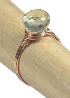 Simple wire wrapped ring tutorial