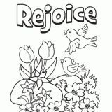 Easter Coloring Page. Enjoy!  Jesus is Risen! Rejoicing with you in the Miracle!