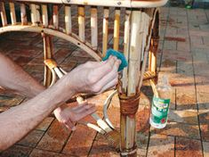 Cane furniture restoration on pinterest cane furniture for Recover wicker furniture