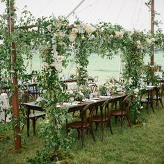 Charming Lakeside Wedding With Garden Party Style (Style Me Pretty)