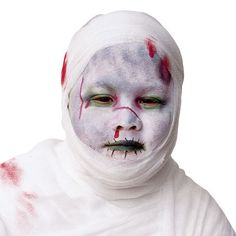 Mummy Face Make-Up for Halloween