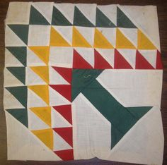 lake Quilting Patterns | The barn sign is a quilt block pattern known as a pine tree block.