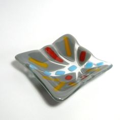 Take a local class to make fused glass art that is functional and pretty!
