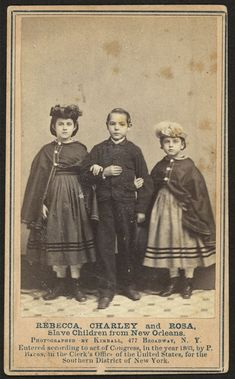 "Rebecca, Charley and Rose 1863 mixed race ancestry. Historic Photographs Of ""White"" Slaves"