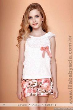 Blusa com Shorts Miss Cake Doce Princesa Moda infantil 530271