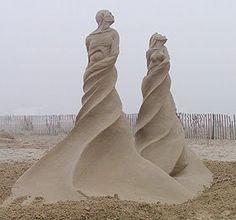 """Confluence"", Sand Sculpture by Dan Doubleday."