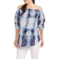 Whoa, Wait Maternity Off the Shoulder Smocked Top, Size: Large, Blue
