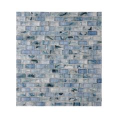 Shop American Olean Visionaire Serenity Blue Glass Mosaic Subway Indoor/Outdoor Wall Tile (Common: 13-in x 13-in; Actual: 12.87-in x 12.87-in) at Lowes.com