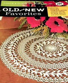Crochet Pattern Book Tablecloths Doily by sewprettypatterns, $7.00