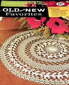 Crochet Pattern Book Tablecloths Doily by sewprettypatterns, $7.00
