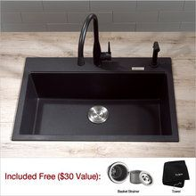 View The Kraus Kgd 412 31 Single Basin Dual Mount Drop In Or Composite Kitchen Sinksgranite