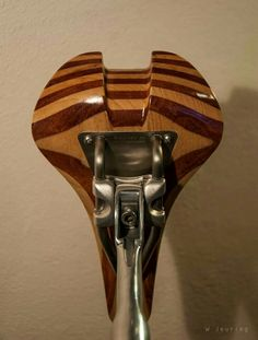 Wooden saddle. Bubinga/Ash Campagnolo Athena Aero seatpost