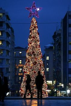 Christmas in Athens, Greece.