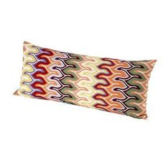 Bring rich color and texture to your living room, den, or guest bedroom with this fashion-forward accent from Missoni.Product: Pillow  Construction Material: 100% CottonColor: Bright multiFeatures:  Flame stitchInsert included Dimensions: 14 x 31