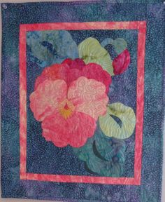 Taken from a magazine picture - raw applique made with batiks.