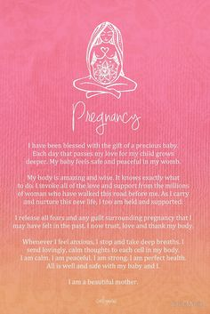 Affirmation - Pregnancy goes by in the blink if an eye. Embrace it, beautify it.