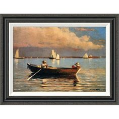 "Global Gallery 'Glouchester Harbor' by Winslow Homer Framed Painting Print Size: 21.4"" H x 28"" W"