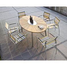 Oryx Tisch 3 Bein Teakplatte Zebra Möbel