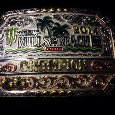 Thanks @PBR for giving me this buckle for winning Bulls On The Beach!! MATT TRIPLETT