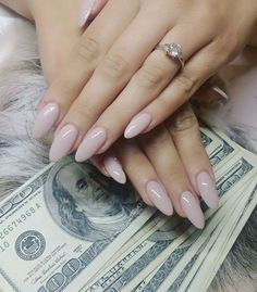 Bitches be like,  just got my tax return, can I get an appointment?  -- love these ballerina pink almond nails!
