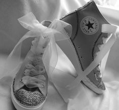 Wedding Sneakers for Brides - Wedding Shoe Inspiration From Flats to Heels - Sneakers with Bling Wedding Sneakers, Wedding Shoes, Sneaker Heels, Wedge Sneakers, Beige Wedding, Plan My Wedding, Wedding Ideas, Converse, Decorated Shoes