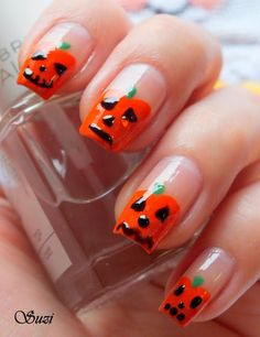 Pumpkin Nail Design