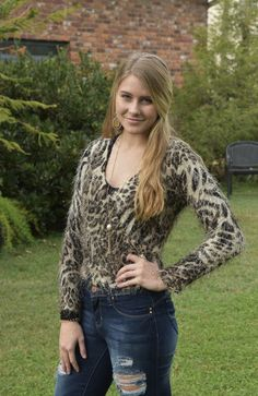 Fuzzy leopard tie-side knit top is the perfect holiday outfit. Paired with a black skirt and some heels for the perfect Christmas party outfit or NYE night out. Girls Boutique, Holiday Outfits, Night Out, Skirts, Collection, Black, Tops, Women, Fashion