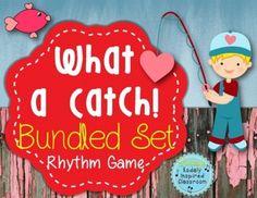 What a Catch {Bundled Rhythm Set} - rhythm game for the elementary music classroom.