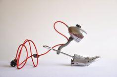 Light my Step. Handcrafted vintage industrial desk lamp. €180.00, via Etsy.