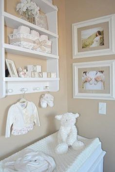 We love this simple, neutral nursery from The Little Umbrella blog.