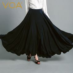 Find More Skirts Information about VOA high elastic silk skirt female new autumn 2016 simple pendulum a C6117 silk skirt,High Quality skirt casual,China skirt swimsuit Suppliers, Cheap skirt gothic from VOA Flagship Shop on Aliexpress.com