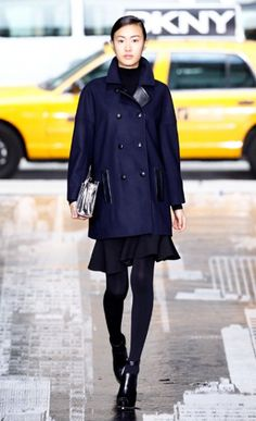 Love that coat from DKNY