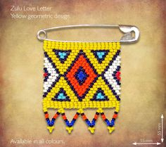 Zulu Love Letters are African Beaded messages given by Zulu maidens to their lovers as symbols of their love and affection, each color conveys a different message. Jewelry Making Tutorials, Beading Tutorials, Beading Patterns, Native Beadwork, Native American Beadwork, African Beads, African Jewelry, Beaded Crafts, Jewelry Crafts